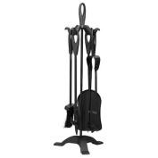 Warwick Traditional Durable Cast Iron 60cm Black Companion Set, Black Loop