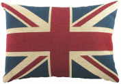 Evans Lichfield Union Jack Traditional Tapestry Cushion, 46cm x 33cm , Polyester Fibre Filled