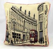 Regent Street London Retro Tapestry Cushion Covers 46cm x 46cm