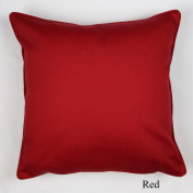 Luxury 100% Cotton Plain dyed Cushion Covers, Red 45X45cm