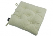 Waltons Auberge Buttoned Cotton Seat Pad with Ties in Duck Egg Green