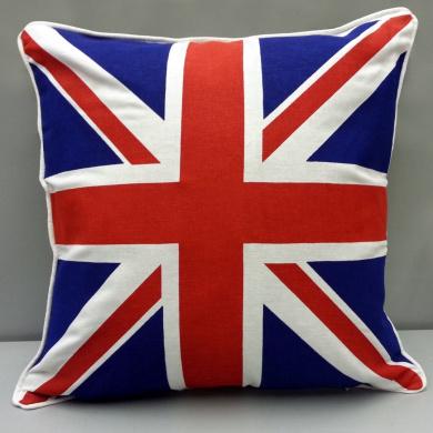 Luxury 100% Cotton Cushion covers - Union Jack Colour - By Adamlinens