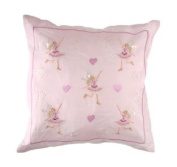 Sass & Belle Dancing Fairy Cushion Cover/Light Pink - 40X40Cm