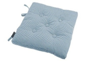 Waltons Auberge Cotton Buttoned Seat Pad with Ties in Wedgewood Blue