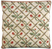 Brigantia Needlework Rosetta Tapestry Cushion Front Kit in Quick Cross Stitch, Multi-Coloured