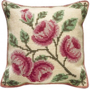 Brigantia Needlework Edensor Tapestry Cushion Front Kit in Quick Cross Stitch, Multi-Coloured