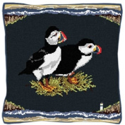 Brigantia Needlework Puffins Tapestry Cushion Front Kit in Tent Stitch, Multi-Coloured