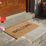 JVL Welcome Stencilled Coir/Pvc Backed Doormat 335 x 60 cm