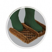 Coir and Wire Boot Scraper Heavy Duty Outdoor Entrance Shoe Cleaner Mat (35cm...
