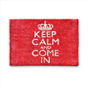 "Relaxdays Coco Coir Doormat ""Keep Calm And Come In"" Size"
