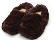 Mircrowaveable Furry Warmers Slippers - Brown