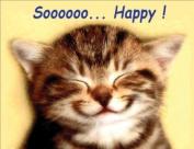 Tabby Cat, Soooo Happy! Fridge Magnet