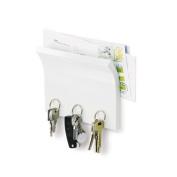 Umbra White Wooden Magnetic Letter Rack Key Holder
