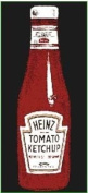 Heinz Tomato Ketchup bottle enamelled steel fridge magnet
