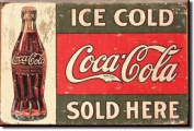 Coca Cola Sold Here 1916 steel fridge magnet