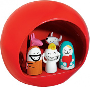 Alessi Presepe Hand-Decorated Porcelain Group Figurines