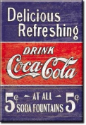 Coca Cola Delicious Refreshing fridge magnet