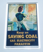 World War 2 Retro 'Save Coal' Jumbo Fridge Magnet - Ideal Present/Gift