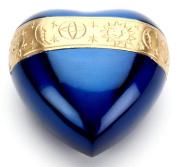 Urns UK 7.6cm Brass Heart Keepsake Urn Cambridge, Sapphire