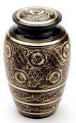 Urns UK 25cm Brass Cremation Urn Adult Gloucester, Black