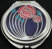 Compact Mirror in Mackintosh Two Roses Design.
