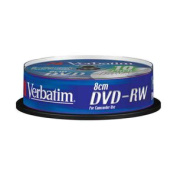 Verbatim DVD-RW 1.4Gb 8cm 30min Spindle 10 Printable 43640 camcorder dvd