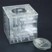 NEW MONEY MAZE COIN BOX PUZZLE GIFT PRIZE SAVING BANK