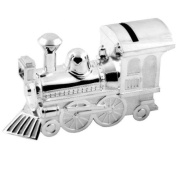 Silver Plated Train Money Bank