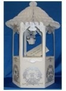 Honeycomb Bell Top Decorated Wishing Well Wedding Card and Money Box