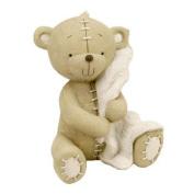 Button Corner Resin Money Bank Bear with Blanket 17cm