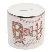 Fine China Money Box for Baby Girl