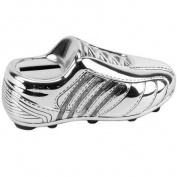 Silver Plated Football Boot Money Bank