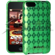 Luxe Argyle Skin Case - Green for iPod Touch 2G