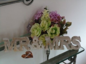 Whitewashed Wooden block letters 'Mr & Mrs'