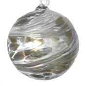Hanging Glass Friendship Ball 10cm diameter , Silver