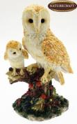 Naturecraft Realistic Barn Owl & Baby Figurine Ornament