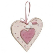 Special Mum Wooden Heart Love Home