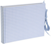 Semikolon Small 80 Page Photo Album - Vichy Gingham Blue