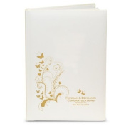 Personalised Gold Butterfly Swirl Album with Sleeves