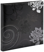 walther design FA-201-B Grindy laminated art paper book bound album, 11.75 x 11.75 inch (30 x 30 cm), 60 black pages, black