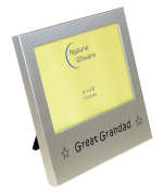 Great Grandad ' - Photo Picture Frame Gift - 13cm x 8.9cm - Brushed Aluminium Satin Silver Colour