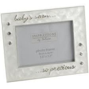 My Baby's First Scan Photo Frame - 10cm x7.6cm Silverplated Precious Picture Frame