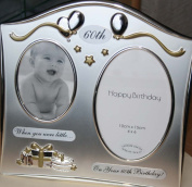 Double Then and Now 60th Birthday Photo Frame Gift