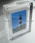 "Magnetic Acrylic Photo Frame 8 x 6"" 24mm thick"