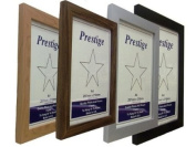 "Wood Wooden Photo Picture Frames Stand or Hang Various Sizes and Colours FN30 (DARK TEAK, 11"" X 9"" OR"
