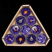 Blaze On Blooming Tea Lights Purple Scented