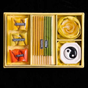 Blaze On Incense & Candle Gift Set Yellow Yin Yang
