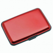 Aluma Wallet Credit Card Holder RFID Blocking - Red Colour