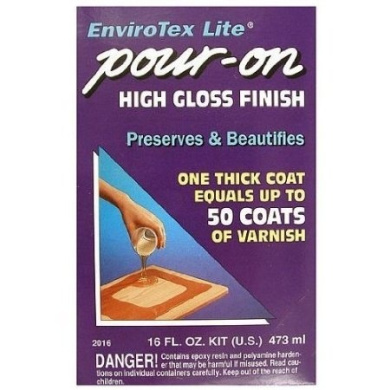 Envirotex Lite Pour-On High Gloss Epoxy for Sealing Bottlecaps 470ml