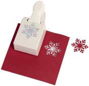 Martha Stewart Large Himalayan Snowflake Punch Christmas Lever Punch M232301